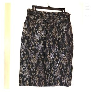 Gorgeous Embroidered Banana Republic Pencil Skirt